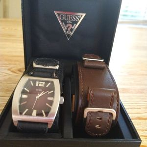 Men Guess Watch Strap Set